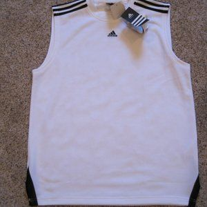 Adidas performance black/white sleevelss shirt